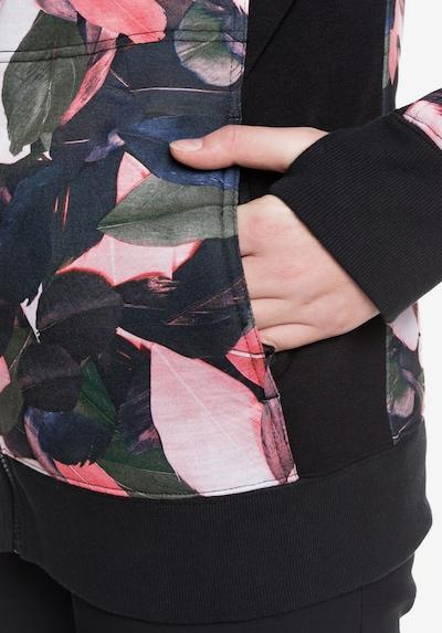 ROXY Veste en polaire 'Frost Printed' en gris / vert / rose, Vue avec produit