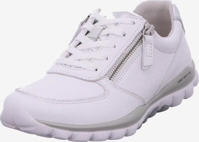 GABOR Sneaker in silber / weiß: Frontalansicht
