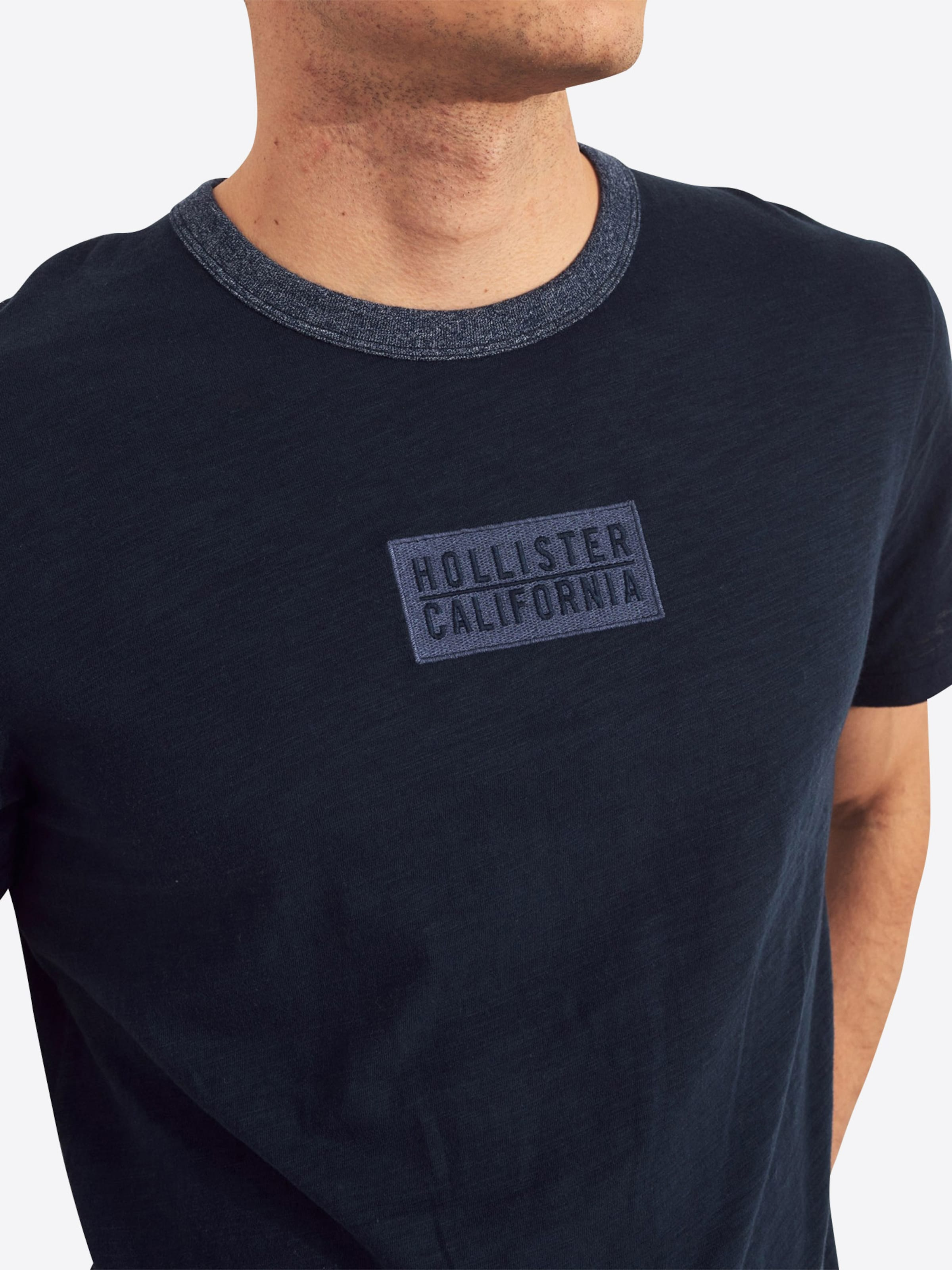 Marine shirt T Hollister En Bleu dorxBCeW