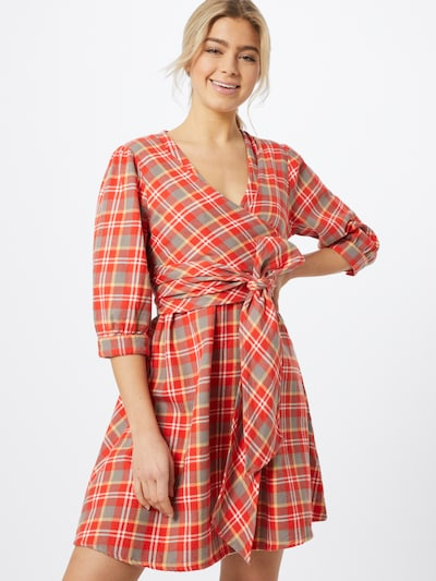 Envii Kleid 'ENABSTRACT 3/4 DRESS 6700' in blau / rot, Modelansicht
