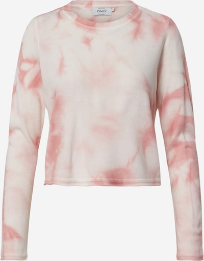 ONLY Pullover 'ONLTIE L/S PULLOVER KNT' in rosa / offwhite, Produktansicht