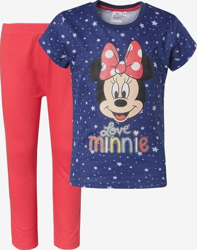 DISNEY Schlafanzug 'Minnie Mouse' in blau / rot / schwarz / weiß, Produktansicht