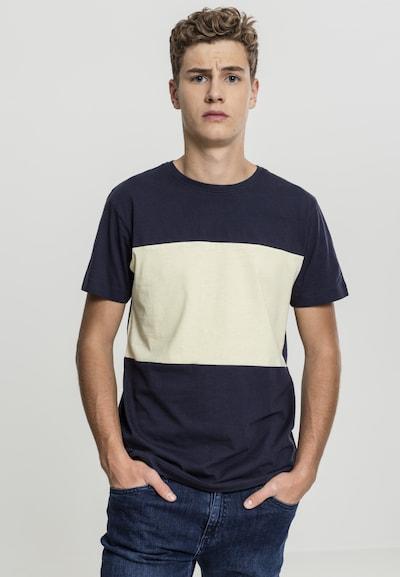 Urban Classics T-Shirt in beige / navy: Frontalansicht