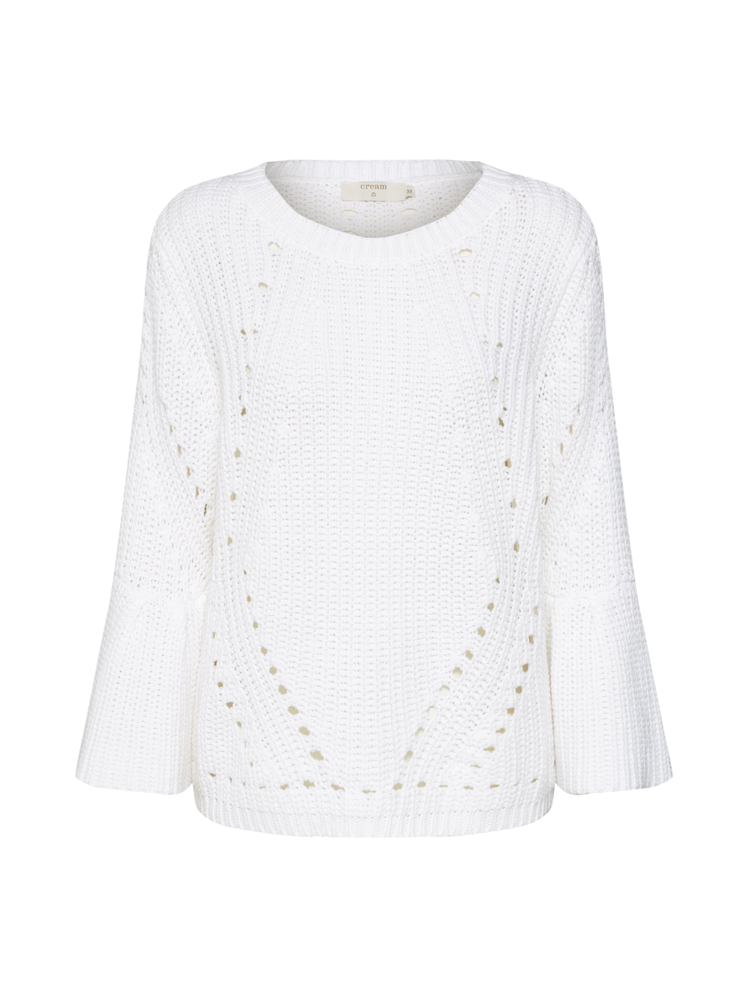 En 4 over Sleeve' Blanc Cream Cassé Pullover3 Pull 'vasia 34LRj5A