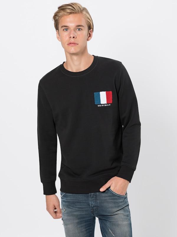 In Jones Zwart Sweatshirt Jackamp; 'jorbanner' gb76yf