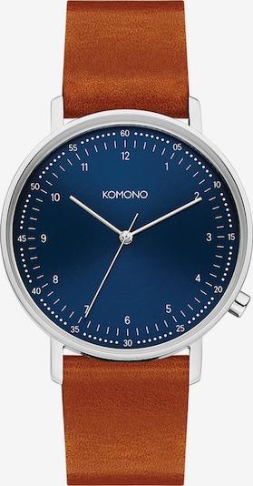 Komono Uhr 'Lewis KOM-W4072' in nachtblau / cognac / silber, Produktansicht