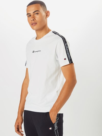 Champion Authentic Athletic Apparel T-Shirt en noir / blanc, Vue avec modèle