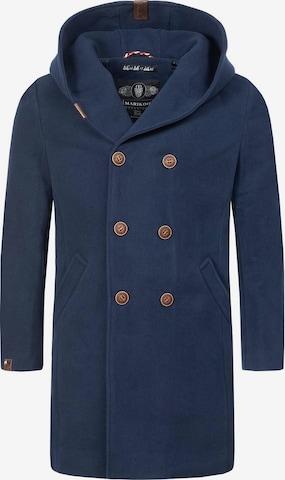 MARIKOO Pitkä talvitakki 'Irukoo' värissä sininen