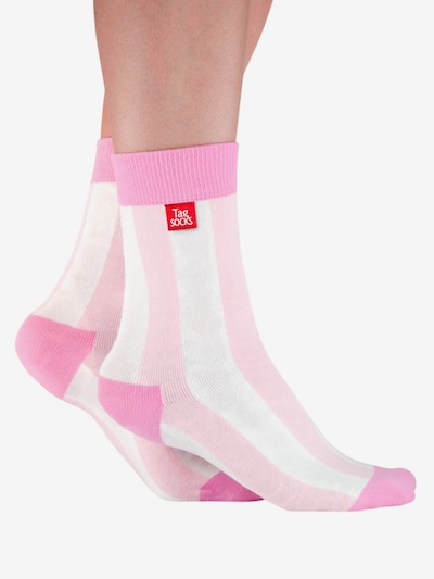 Tag SOCKS Socken 'Stars & Stripes' in pink / rosa / weiß, Modelansicht