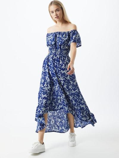 Mela London Kleid 'Bardot' in blau / weiß, Modelansicht