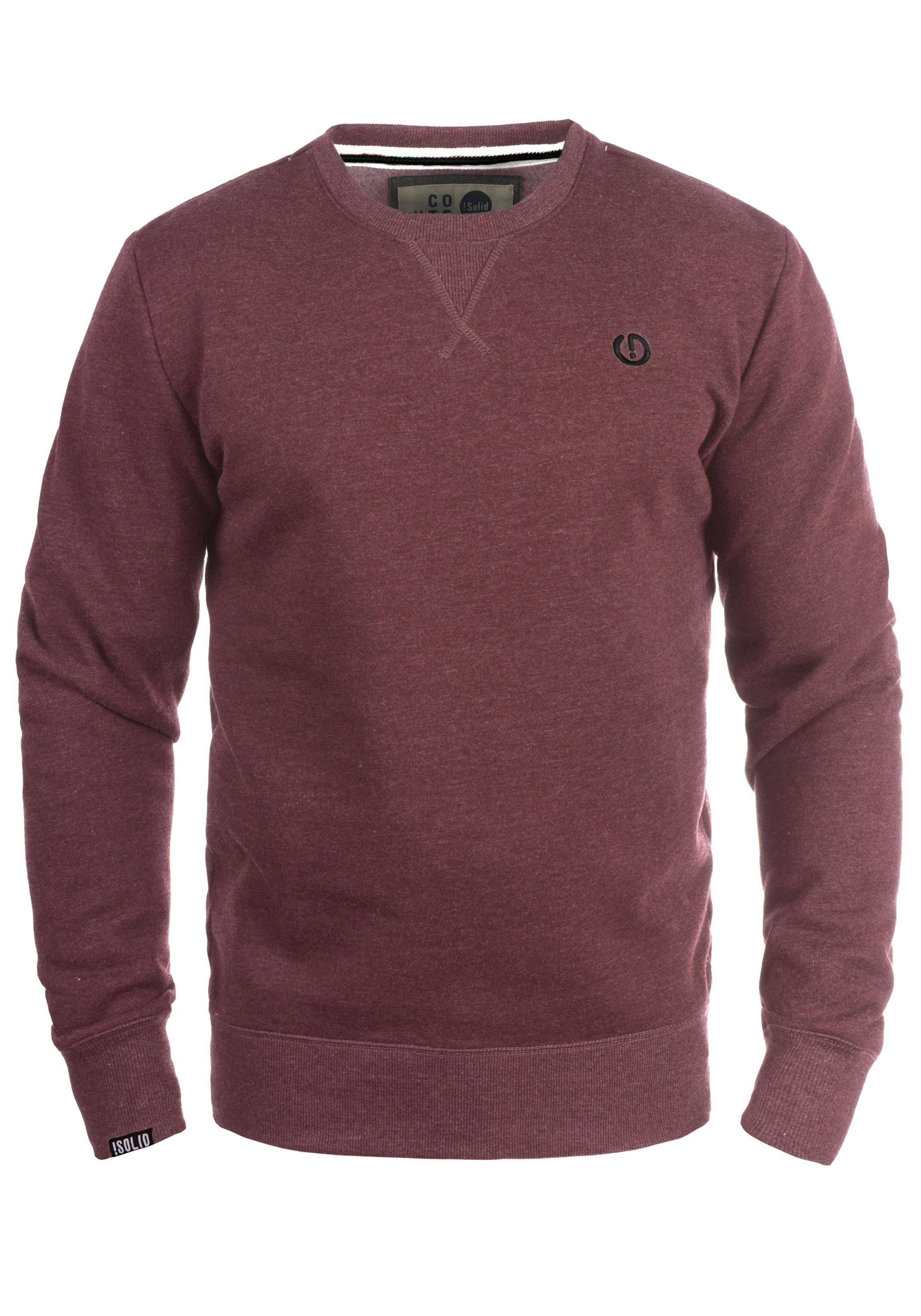 Sweatshirt In neck' 'benn O Rot solid exCBrdoW