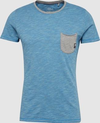 s.Oliver RED LABEL Shirt in Blauw gemêleerd / Grijs