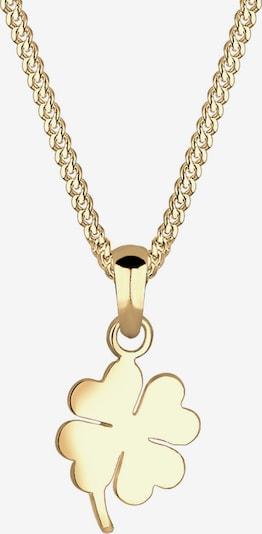 ELLI PREMIUM Kette 'Kleeblatt' in gold, Produktansicht