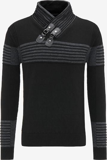 TUFFSKULL Pullover in grau / anthrazit, Produktansicht