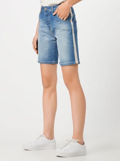 PLEASE Shorts in blue denim, Modelansicht