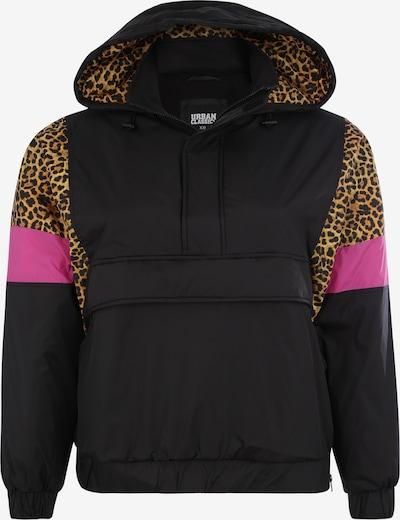 Urban Classics Curvy Jacke in braun / pink / schwarz, Produktansicht