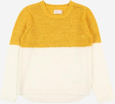 KIDS ONLY Pullover 'GEENA' in senf / naturweiß, Produktansicht