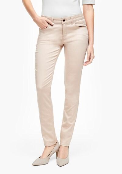s.Oliver BLACK LABEL Jeans in de kleur Beige, Modelweergave