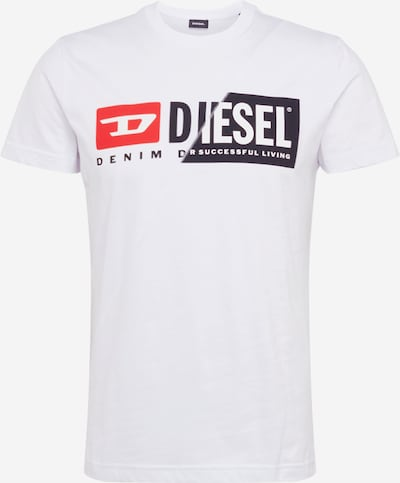 DIESEL Shirt 'T-DIEGO-CUTY MAGLIETTA HEMD' in weiß, Produktansicht