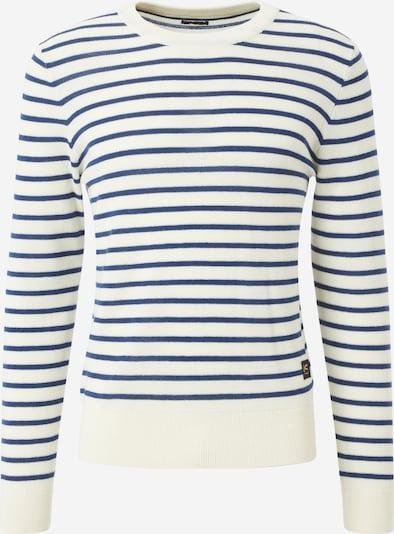 DENHAM Pullover in navy / weiß, Produktansicht