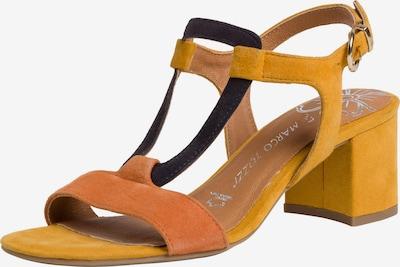 MARCO TOZZI Sandalette in nachtblau / gelb / dunkelorange, Produktansicht