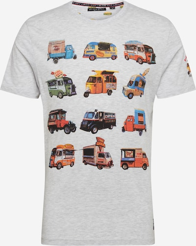 BRAVE SOUL Tričko 'MTS-69FOOD' - zmiešané farby / šedobiela, Produkt