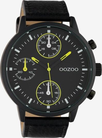 OOZOO Uhr in neongelb / schwarz, Produktansicht
