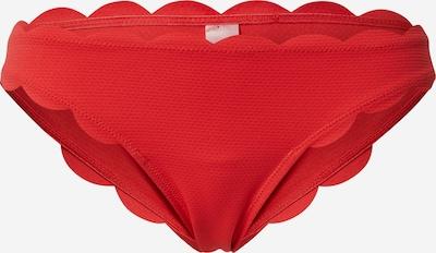 Hunkemöller Bas de bikini 'AB EXCL Scallop' en rouge, Vue avec produit