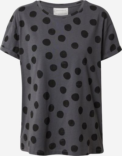 ARMEDANGELS Shirt 'Naalina' in anthrazit / schwarz, Produktansicht