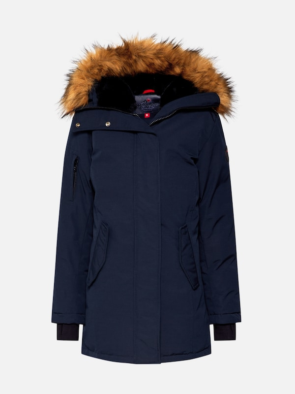 Helvetica Mountain Pioneers Parka 'EXPEDITION WOMEN FAKE FUR' in navy