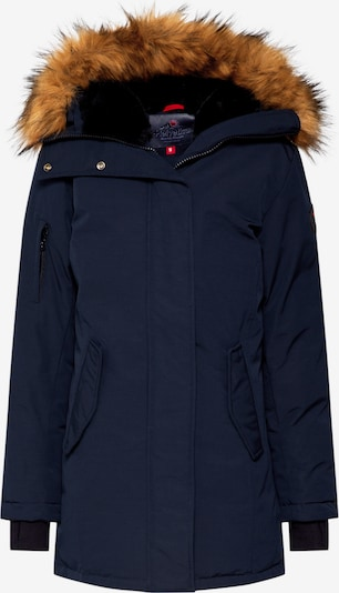 Helvetica Mountain Pioneers Parka 'EXPEDITION WOMEN FAKE FUR' in navy, Produktansicht
