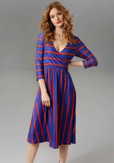 Aniston CASUAL Kleid in indigo / hellrot, Modelansicht