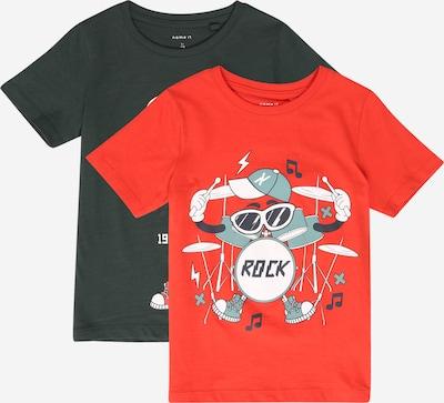 NAME IT T-Shirt 'Jachob' en rouge / noir: Vue de face