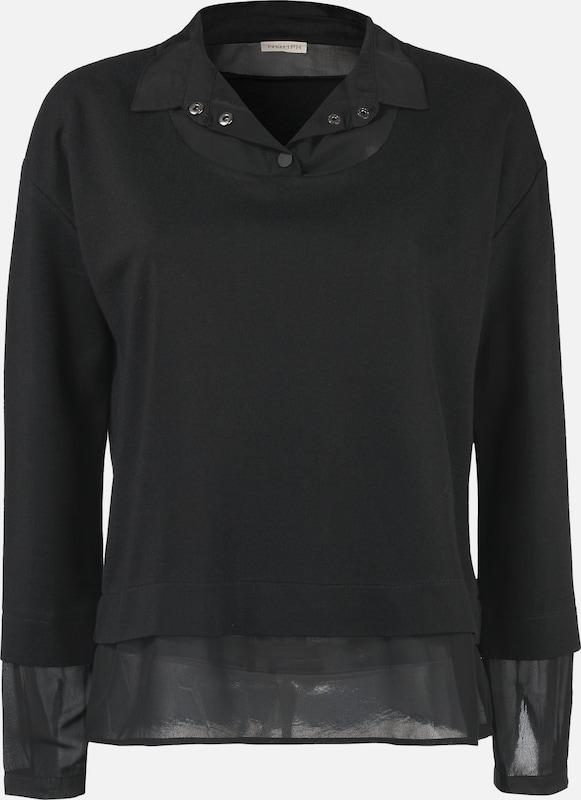 NÜMPH Pullover 2 in 1 in schwarz  Mode neue Kleidung
