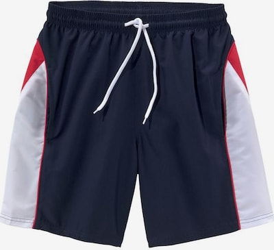 BENCH Sportbroek in de kleur Navy / Rood / Wit, Productweergave