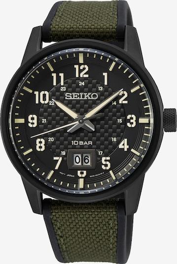 SEIKO Uhr 'SUR325P1' in khaki / schwarz, Produktansicht