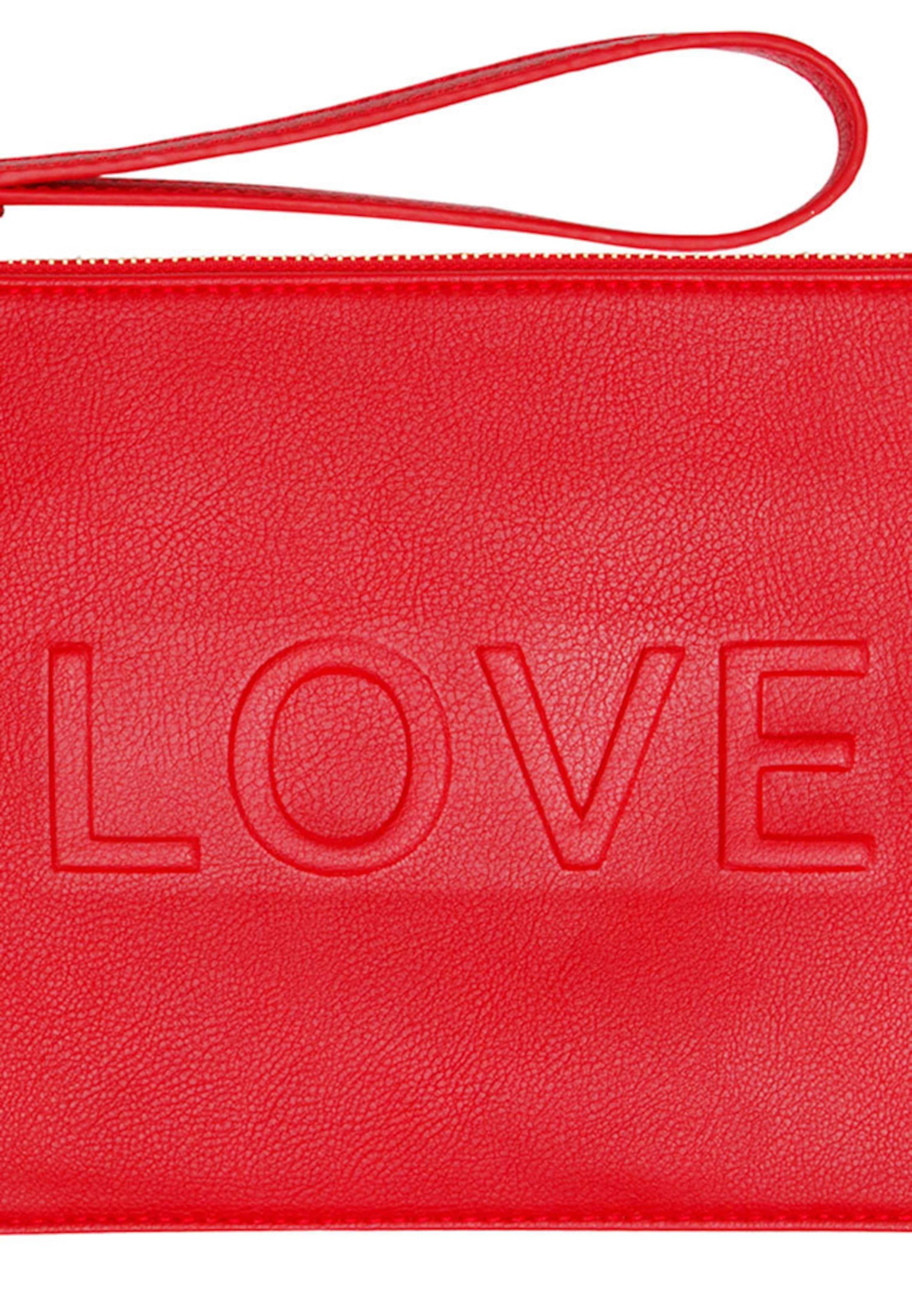 Erschwinglich Zu Verkaufen HALLHUBER Clutch mit LOVE-Statement Billig Verkauf Angebote Billig Verkauf Echten cGp0c