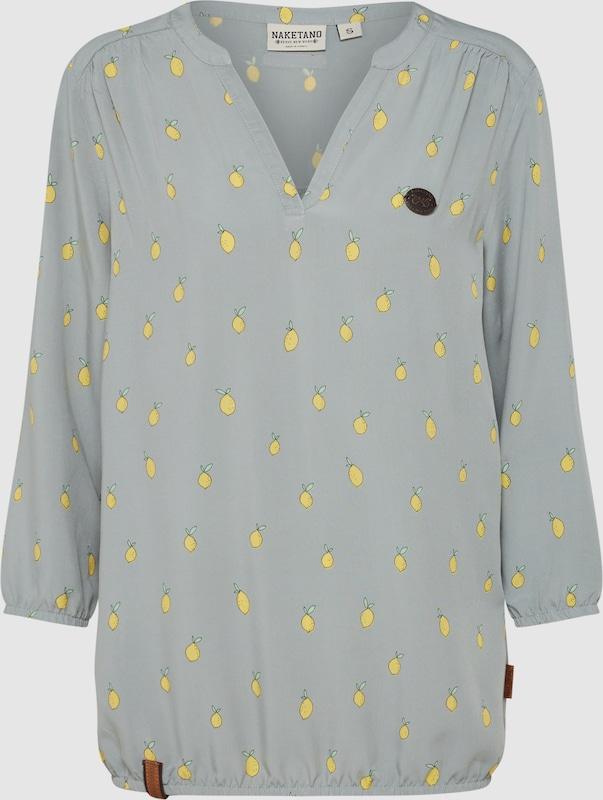 Naketano Casual Blause in gelb   grau  Großer Rabatt