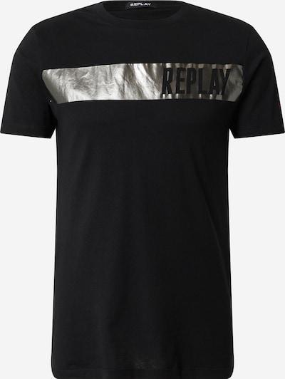 REPLAY T-Shirt in schwarz / silber, Produktansicht