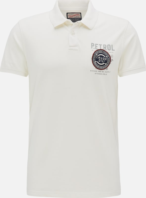 Petrol Industries Polo Shirt in weiß: Frontalansicht