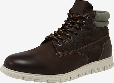 JACK & JONES Stiefel 'JFWPEDRO LEATHER BOOT' in dunkelbraun, Produktansicht