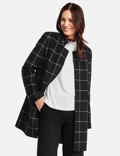 GERRY WEBER Mantel in graumeliert / schwarz, Modelansicht