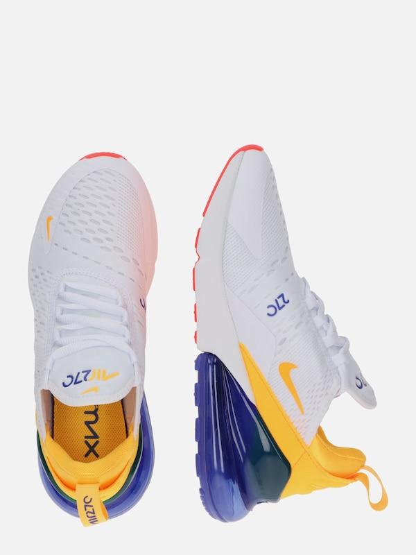 Nike Sportswear Sneaker 'Air Max 270' in gelb lila weiß