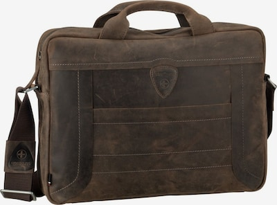 STRELLSON Laptoptasche ' Hunter BriefBag SHZ ' in braun: Frontalansicht