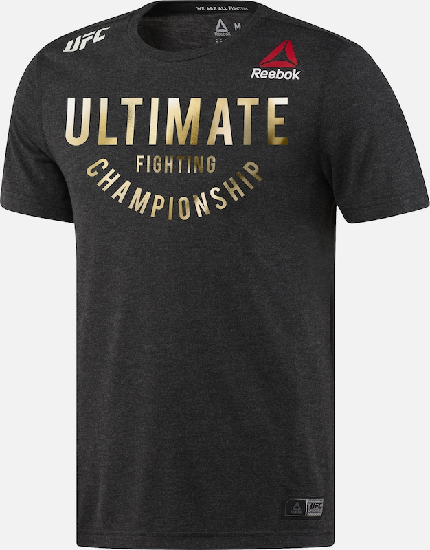 REEBOK Functioneel shirt 'UFC Fight Night Walkout' in de kleur Zwart, Productweergave