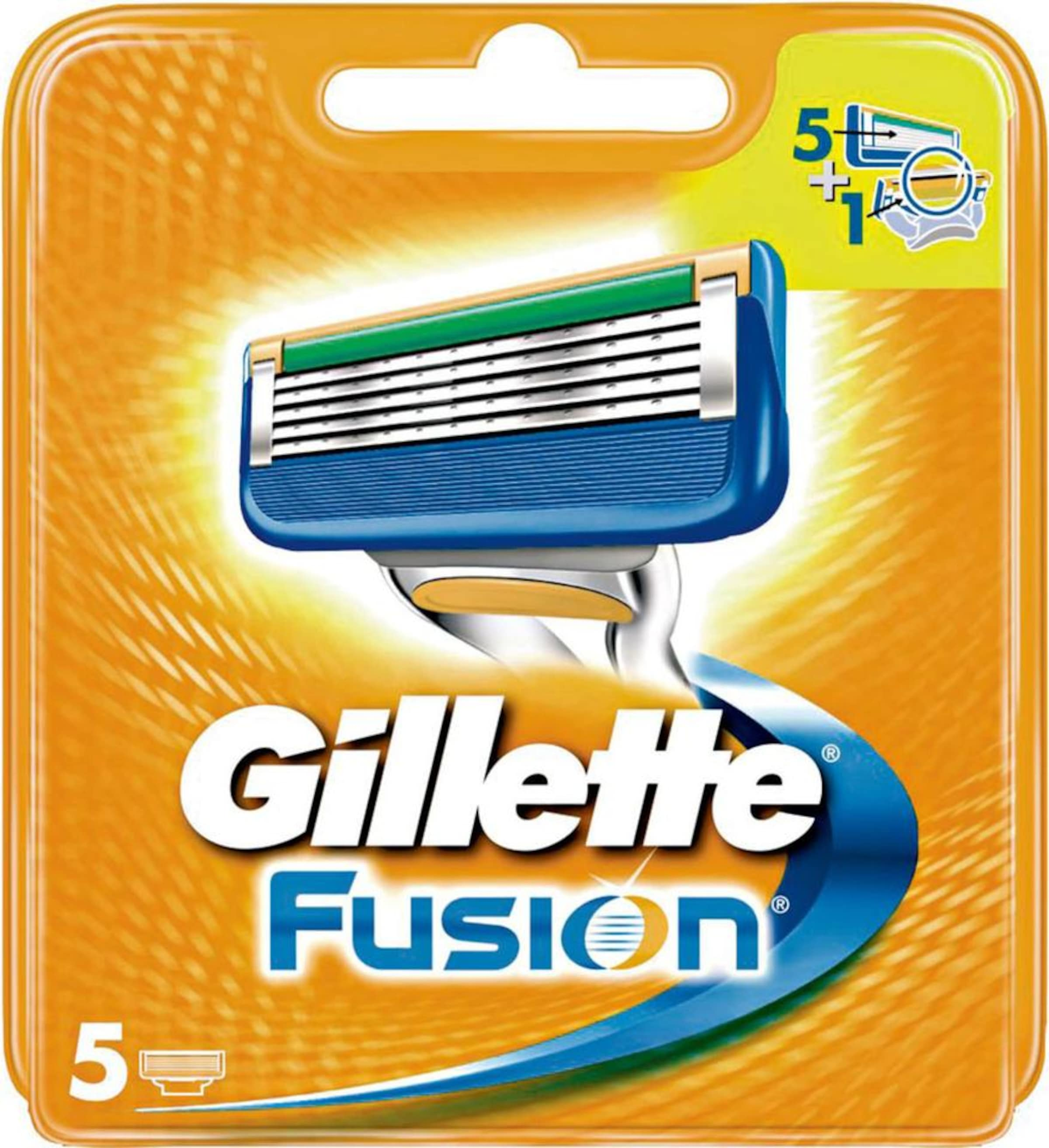 Manual'Rasierklingen5 Orange tlgIn Silber Gillette 'fusion BlauGrün OuPZTkXi