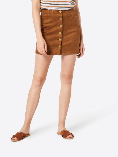 Boohoo Spódnica 'Aalia' w kolorze jasnobrązowym: Widok z przodu