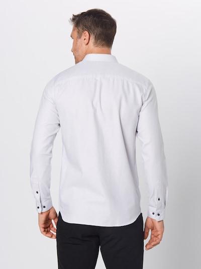 Dalykiniai marškiniai 'JPRVICTOR L/S NOOS' iš JACK & JONES , spalva - balta: Vaizdas iš galinės pusės