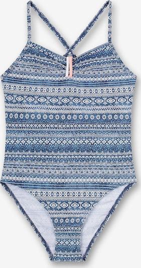 SANETTA Badeanzug in blau / weiß, Produktansicht