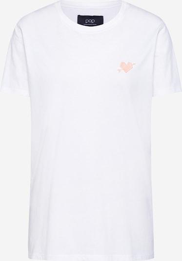 Pop Copenhagen Shirt 'Arrow Heart' in weiß, Produktansicht